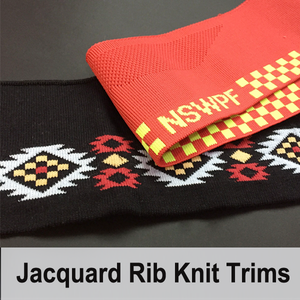 Jacquard Rib Knit Collar Cuffs